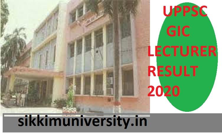 UPPSC GIC Lect. Result/Merit List 2020 - Check Uppsc.up.nic.in  GIC Lecturer Cut Off Marks Merit List 2020 1