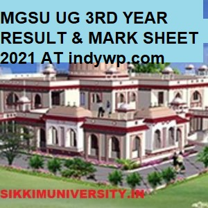 MGSU BA 3rd Year Results 2021 Name Wise, MGS University BA Roll Number Wise Results 2021 1