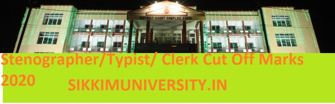 Angul District Court Jr Clerk Result/Merit List 2020 - Districts.ecourts.gov.in Stenographer/Typist/ Clerk Cut Off Marks 2020 1