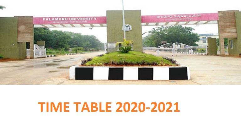 Palamuru University Exam Schedule UG/PG Part Ist, 2nd, 3rd Time Table 2021 2