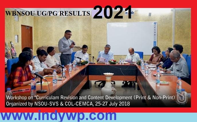 NSOU UG/PG Name Wise Results 2021, Netaji Subhas Open University Regular/Supply Results 2021 1