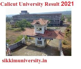 Calicut University Ist, 2nd, 3rd Year Result 2021 for BA BSC BCOM MA MSC MCOM B.Ed Exam 1