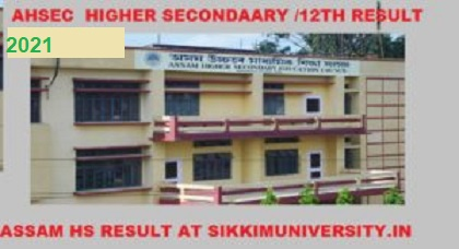 AHSEC Result/Toppers - Assam HS Results 2021 - Check Assam Board 12th Result 2021 1