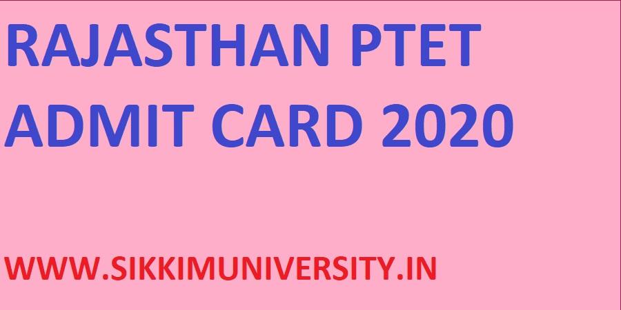 Rajasthan PTET Hall Ticket 2020 - Durgar College BED Admit Card 2020 Name Wise 1