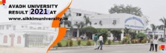 Avadh University Result 2021 Part I, II, IIIrd year BBA BCA BSC BA BCom Result 1