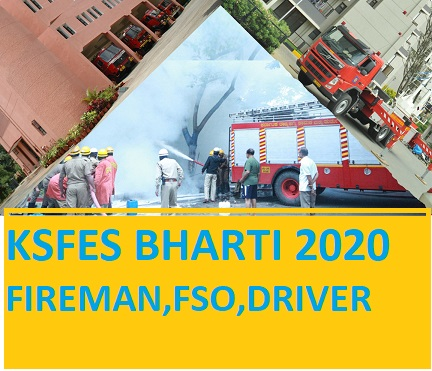 KSFES Karnataka Recruitment 2020 - Ksfesonline.in Fireman Driver FSO Recruitment 2020 Online Form Apply 1