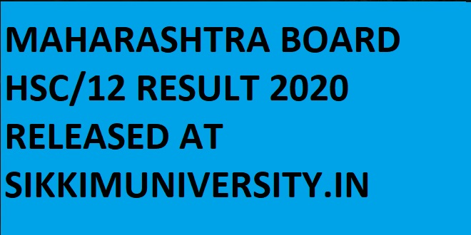 Maharashtra Board Results 2020 Roll Number Wise/Name Wise at Mahresults.nic.in 1