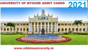 Mysore University Online Admit Cards 2021 Available Now Download at Uni-mysore.ac.in 1