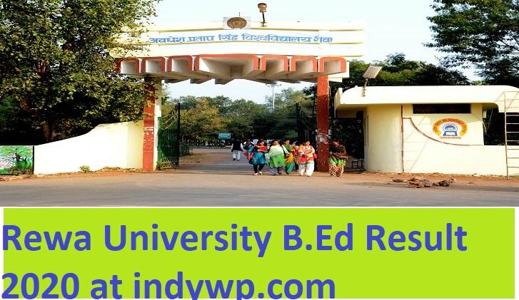 APSU Rewa B.Ed Sem. Results 2021 - Awadhesh Pratap Singh University B.Sc B.Ed BA B.Ed Semester Results Available in October 2021 1