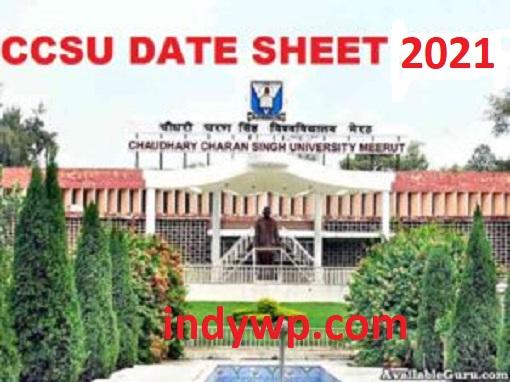CCSU Datesheet 2021 Professional/Regular/Private, चौधरी चरण सिंह विश्वविद्यालय UG/PG Exam Time Table 2021 1