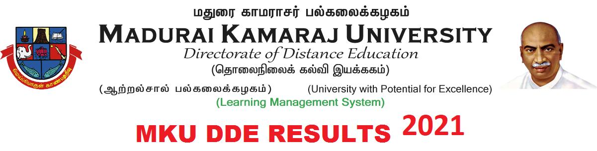 MKU DDE Results 2021 1st/ 2nd/3rd Year Results BA BSC BCOM MA MCOM Exam 1