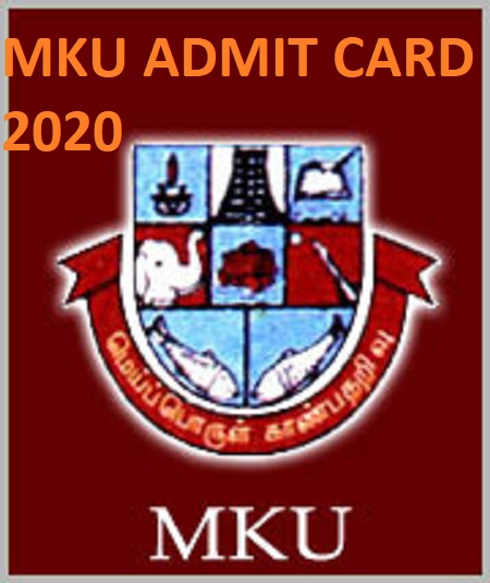 Madurai Kamaraj University UG/PG Hall Ticket 2020 (Available Now) - Check @Mkjuniversity.ac.in Exam Date Admit Card 2020 1