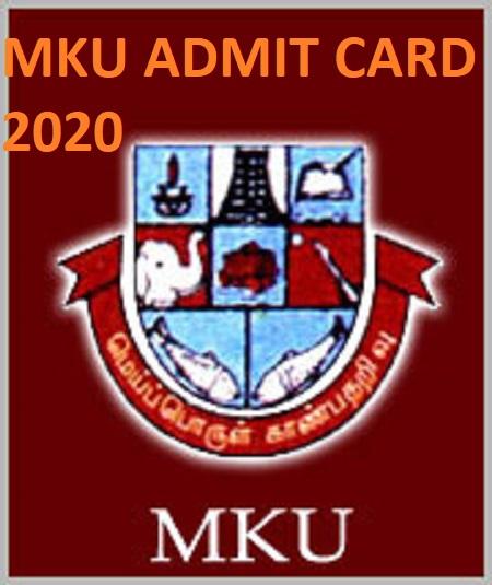 Madurai Kamaraj University UG/PG Hall Ticket 2021 (Available Now) - Check @Mkjuniversity.ac.in Exam Date Admit Card 2021 1