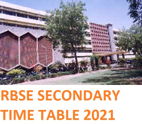 RBSE 10th Date Sheet 2021 Download - @Rajeduboard.nic.in Secondary Time Table 2021 Exam Date 1