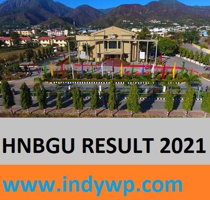 HNBGU Result 2021 for Ist, 2nd & Final year BA, BSC, BCOM, MA, MSC Exam 1