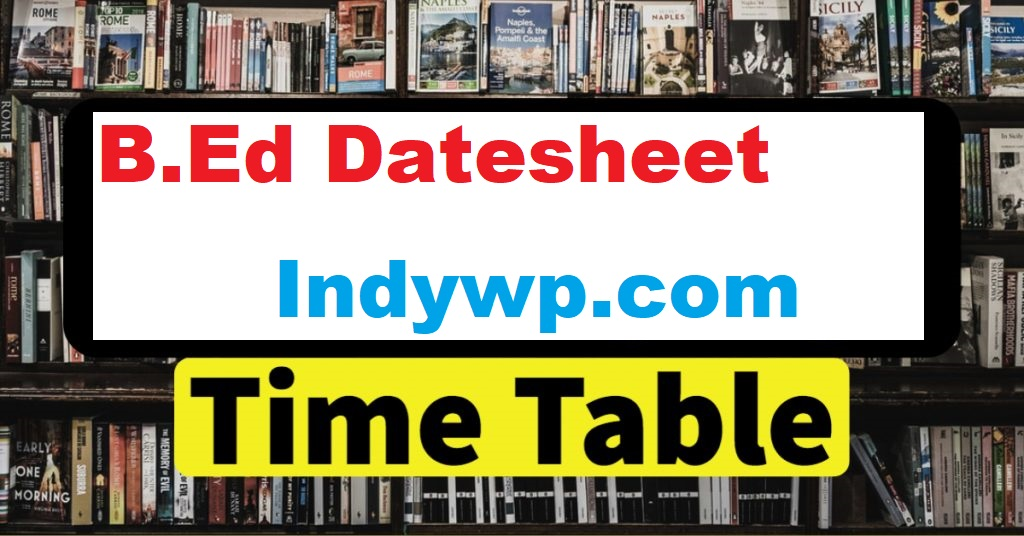 BED-Time-Table-2021