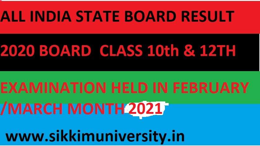 Board Exam Results 2021 - All State Board Exam Results March 10th & 12th Class Name wise/Roll Number Wise 1