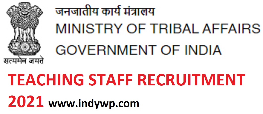 Ministry of Tribal Affairs 3479 TGT PGT Principal Recruitment 2021 Online Apply 1