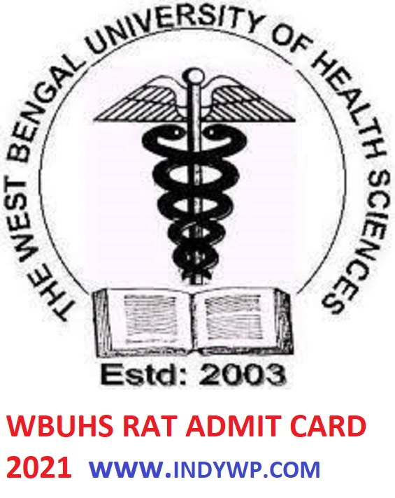 WBUHS RAT Hall Ticket 2021 - Check @Wbuhs.ac.in Research Aptitude Test Admit Card 2021 1