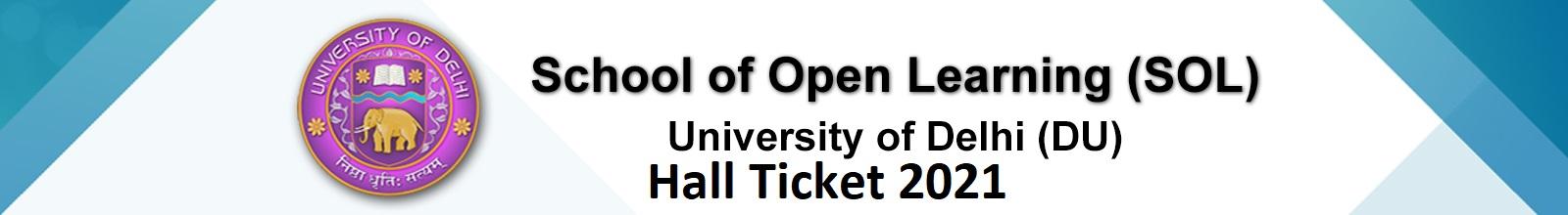 DU SOL Hall Ticket March 2021 For BCOM BA 1 & 3 Sem Exams (OUT) 1