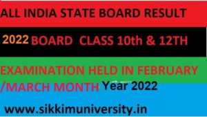 Board Exam Results 2022 - All State Board Exam Results March 10th & 12th Class Name wise/Roll Number Wise 1