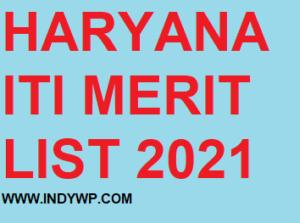 Itihry.com ITI Haryana Merit List 2021 - Download Haryana ITI Vth Merit List Releasing Very Soon 1