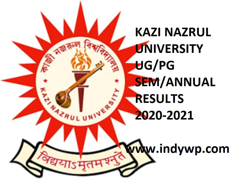 Kazi Nazrul University UG/PG Results 2021 Odd-Even Semester & Annual Results 1