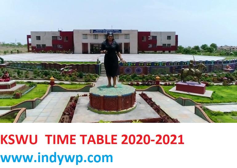 KSWU Exam Date Sheet 2021 (OUT) Akkamahadevi University Bijapur Exam Time Table 2020-2021 1