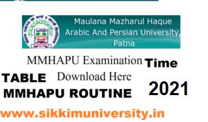 MMHAPU Alim Part I, II, III Exam Date 2021, Bihar Alim Fazil 1, 2, 3 Exam Routine/Time Table 1