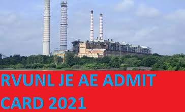 RVUNL Jr. Engineer Hall Ticket 2021 Exam Date at www.energy.rajasthan.gov.in 1