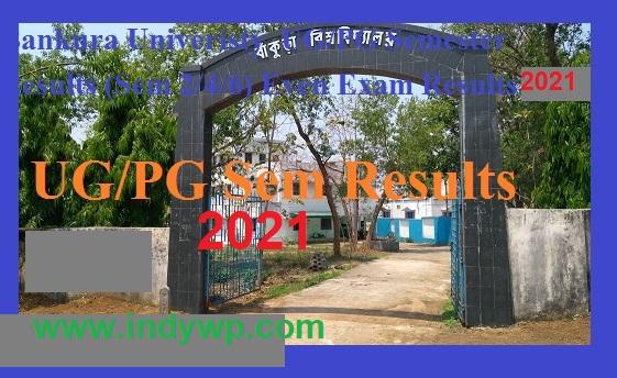 Bankura University 1st, 2nd, 3rd Results 2021 - Bankura University 2nd/4th/6th Sem BA BSC BCOM MA Result 2021 1