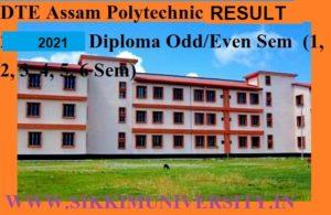 Assam Polytechnic Result 2020-2021 - DTE Assam Polytechnic Diploma 2/4/6 Sem Result 2020-21 Dte.assam.gov.in 1