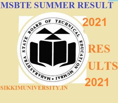 MSBTE Summer 2021 Result Check Diploma 2, 4, 6 Even Sem. Result Date 1