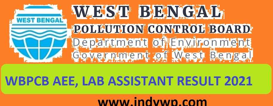 WBPCB Laboratory Asst & Other Results 2021 (OUT) at Wbpcb.gov.in Download Lab Assistant Result 2021 1