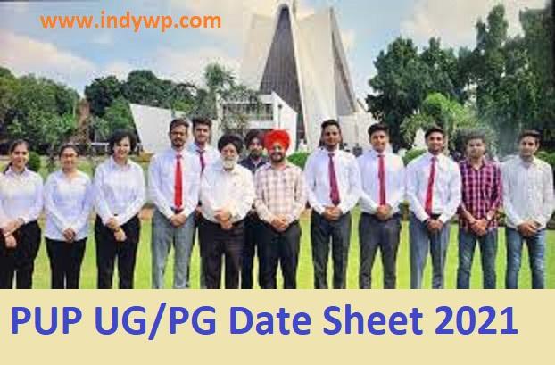 Punjabi University Patiala Date Sheet 2021 (OUT) - PUP UG/PG Date Sheet 2021@Punjabiuniversity.ac.in 1