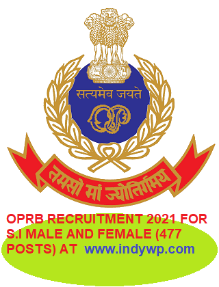 Odisha Police Recruitment 2021 For 477 Sub Inspector Posts Notification (Released) Online Apply 1