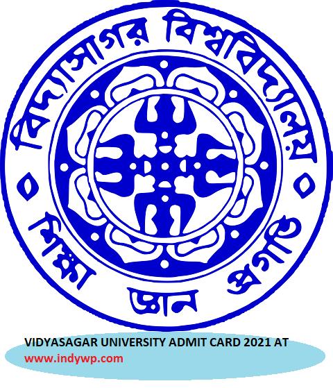Vidyasagar University DDE Hall Ticket 2021 - Download VU DDE Admit Card 2021 Exam Dates @Vidyasagar.ac.in 1
