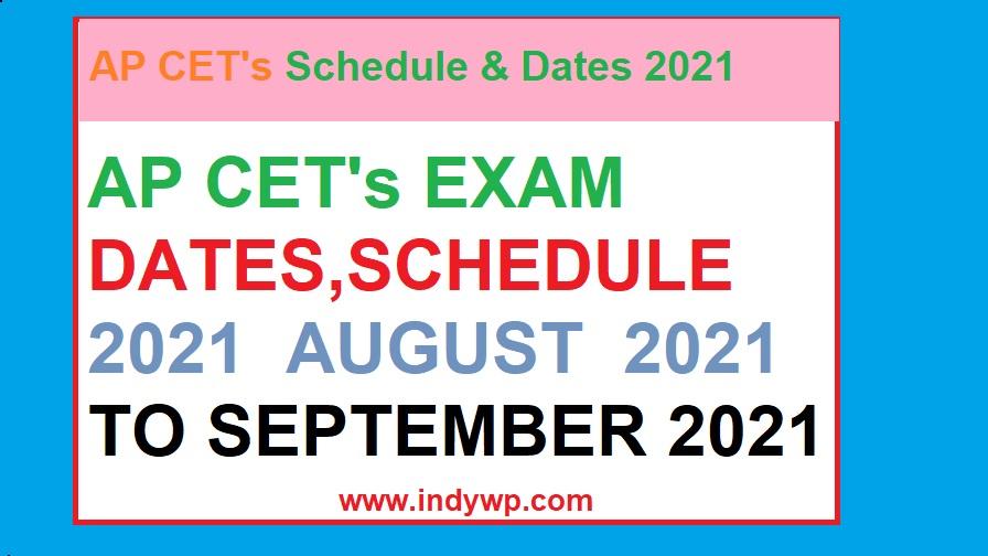 AP Announces CET's 2021 Dates- Check Exam Schedule AP Common Entrance Test's 2021 1