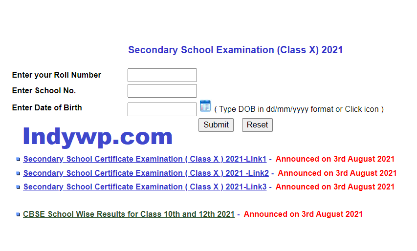 CBSE 10th Result March 2021 Cbseresults.nic.in CBSE School Wise Results for Class 10th