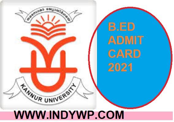 Kannur University UG/PG & Other Professional Courses Hall Ticket 2021 1