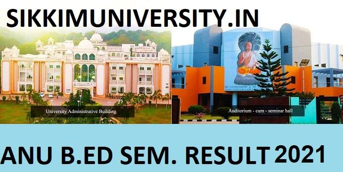 ANU B.Ed I/II/III/IVth Sem Results 2021 Nagarjuna University B.Ed Semester Results 2021 Marksheet 1