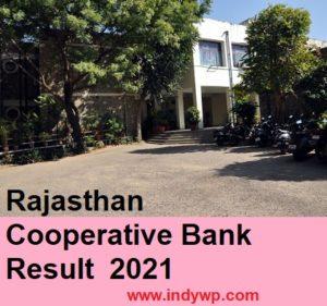 Rajasthan Coop. Bank Result/Merit List 2021 - RCRB Jr. Assistant Clerk Store Keeper Cut Off 2021 1