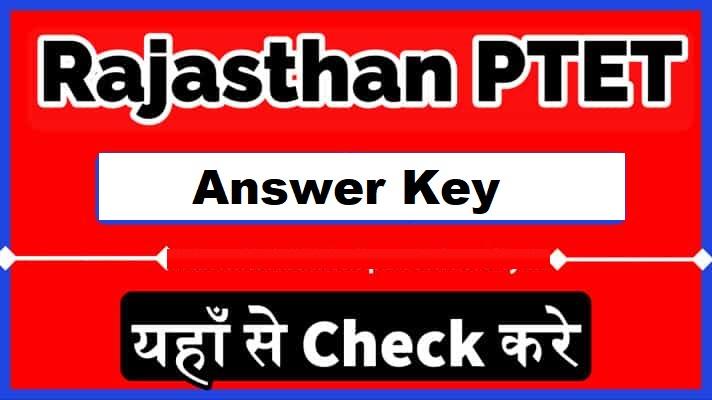Rajasthan-PTET-answer- key-2021