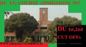 DU Cut Off 2021 Ist/2nd Cut Off Delhi University College Wise Commerce Science Arts Stream 1